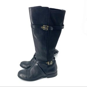 Cole Haan Women Leather Boots with Stretchy cuff